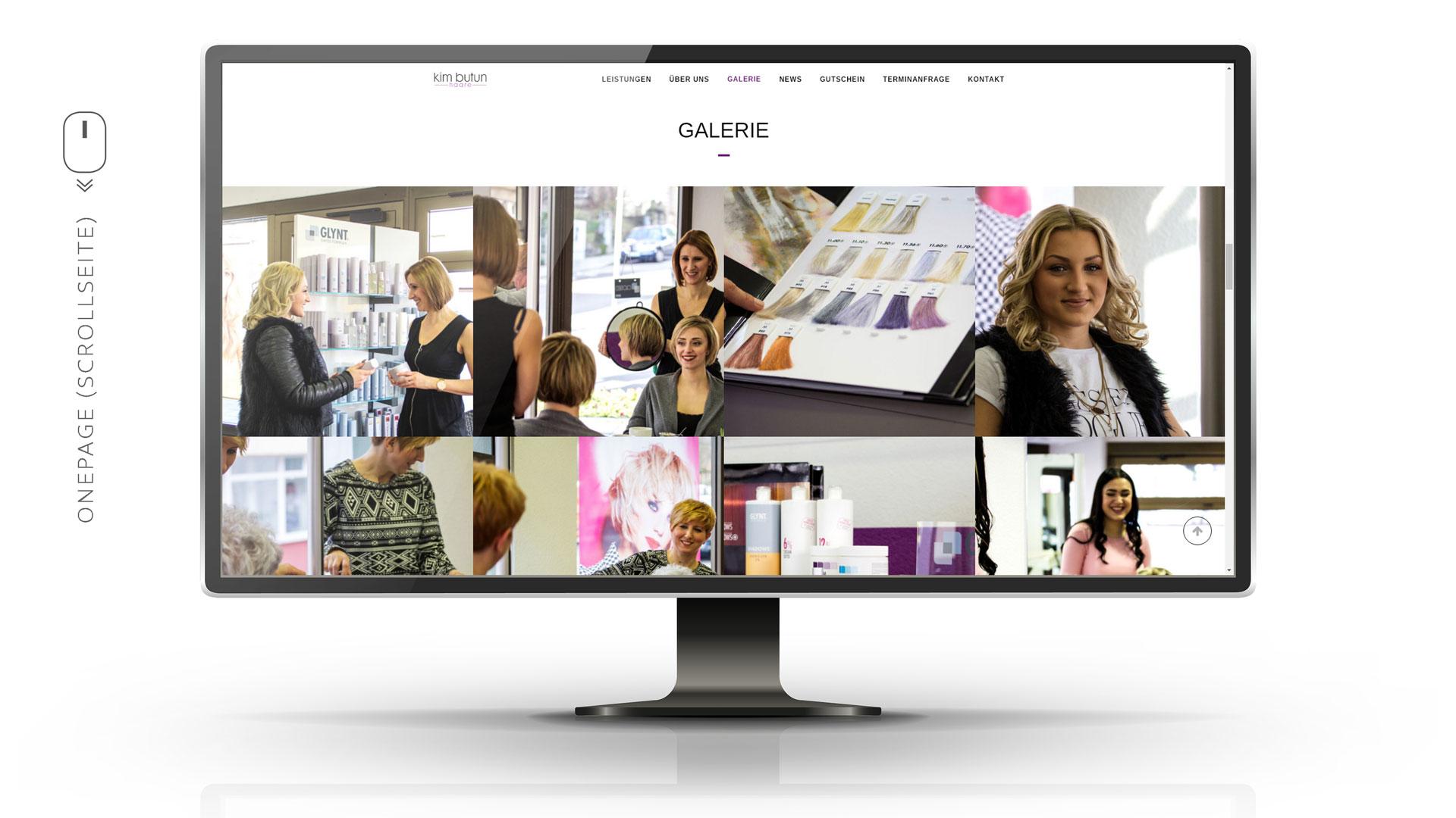 Galerie mit vielen Eindrücken aus dem Friseursalon, Mitarbeiterinnen und Kunden